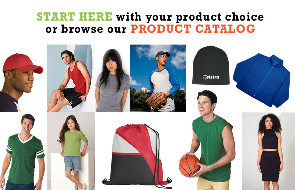 Product Catalog T Shirts, Hats, Start Here